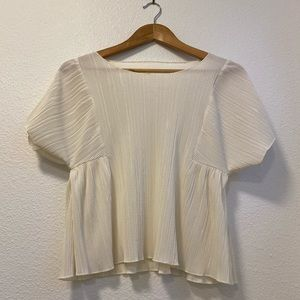 Madewell Cream Crinkle Butterfly Top